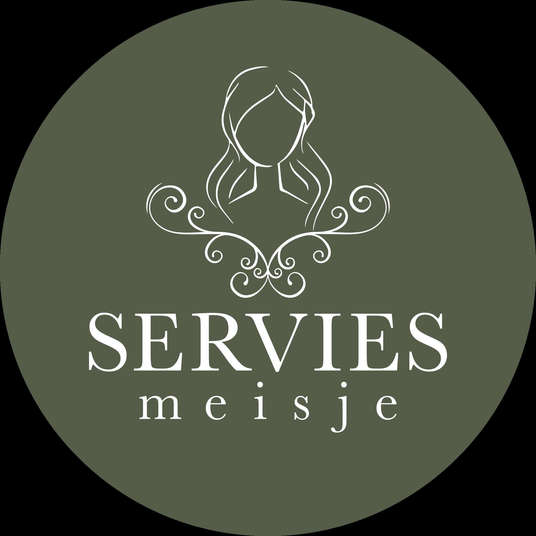 Logo Servies Meisje Cirkel
